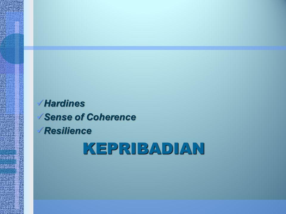 KEPRIBADIAN Hardines Hardines Sense of Coherence Sense of Coherence Resilience Resilience
