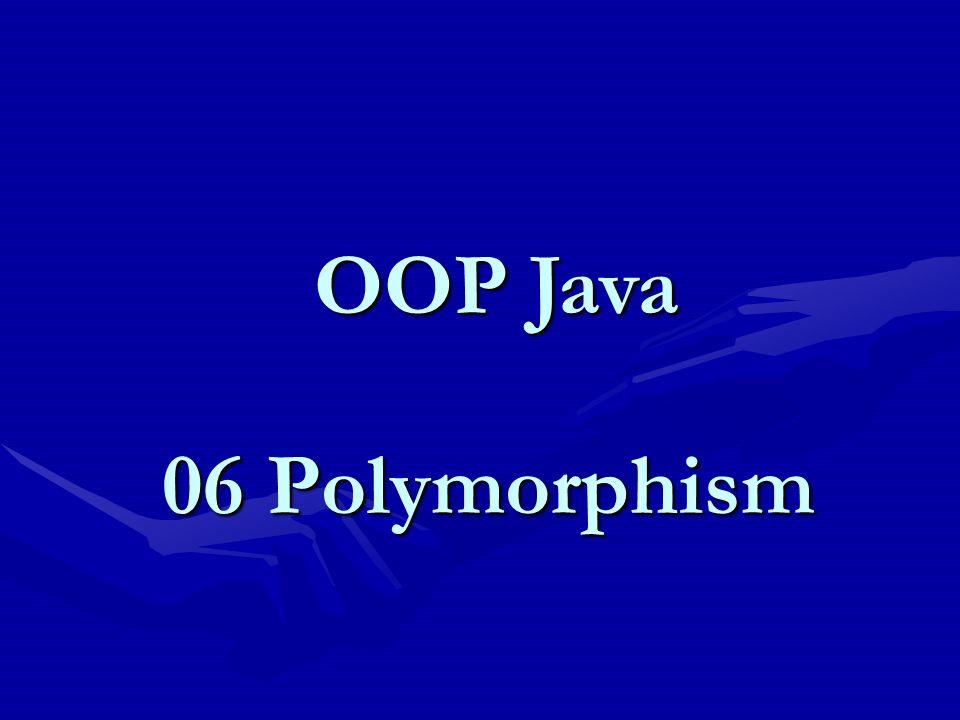 Polymorphic Arguments (2) //Polymorphic Arguments : Hitung.java public class Hitung { public double hitungSalary(Employee e) { return e.salary; } //Polymorphic Arguments : TestPolyArg.java public class TestPolyArg { public static void main(String[ ] args) { Employee p1 = new Employee(); Manager p2 = new Manager(); Hitung p3 = new Hitung(); System.out.println( Salary p1 : + p3.hitungSalary(p1)); System.out.println( Salary p2 : + p3.hitungSalary(p2)); }