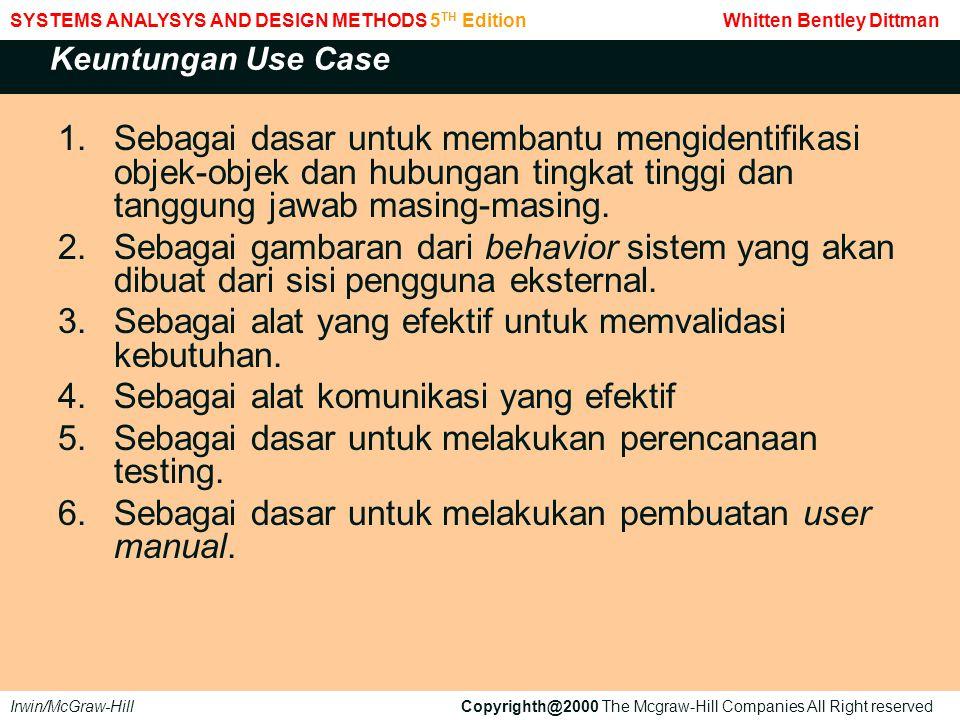 Dalam bisnis use case, actor adalah semua peran (role) yang terlibat dalam proses bisnis, sedangkan dalam system use case, mereka dibatasi hanya kepada mereka yang mempunyai kontak langsung dengan sistem aplikasi.