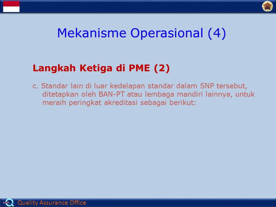 Quality Assurance Office Langkah Ketiga di PME (2) c.