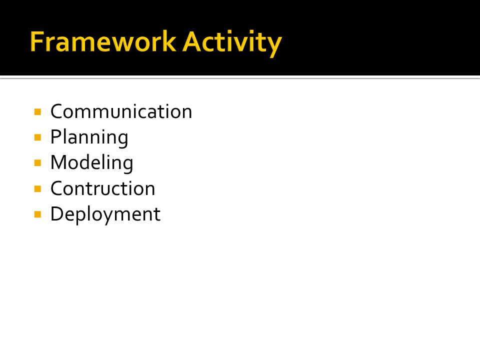  Communication  Planning  Modeling  Contruction  Deployment