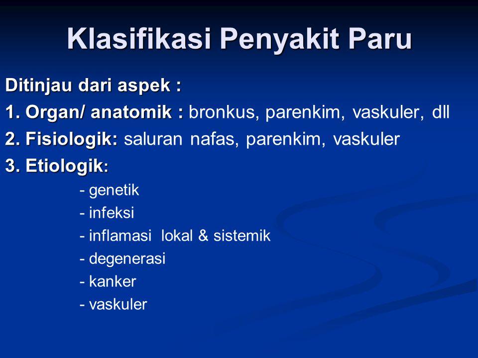 Penyakit Utama Respirasi dan Penyakit Kritis Respirasi 1.