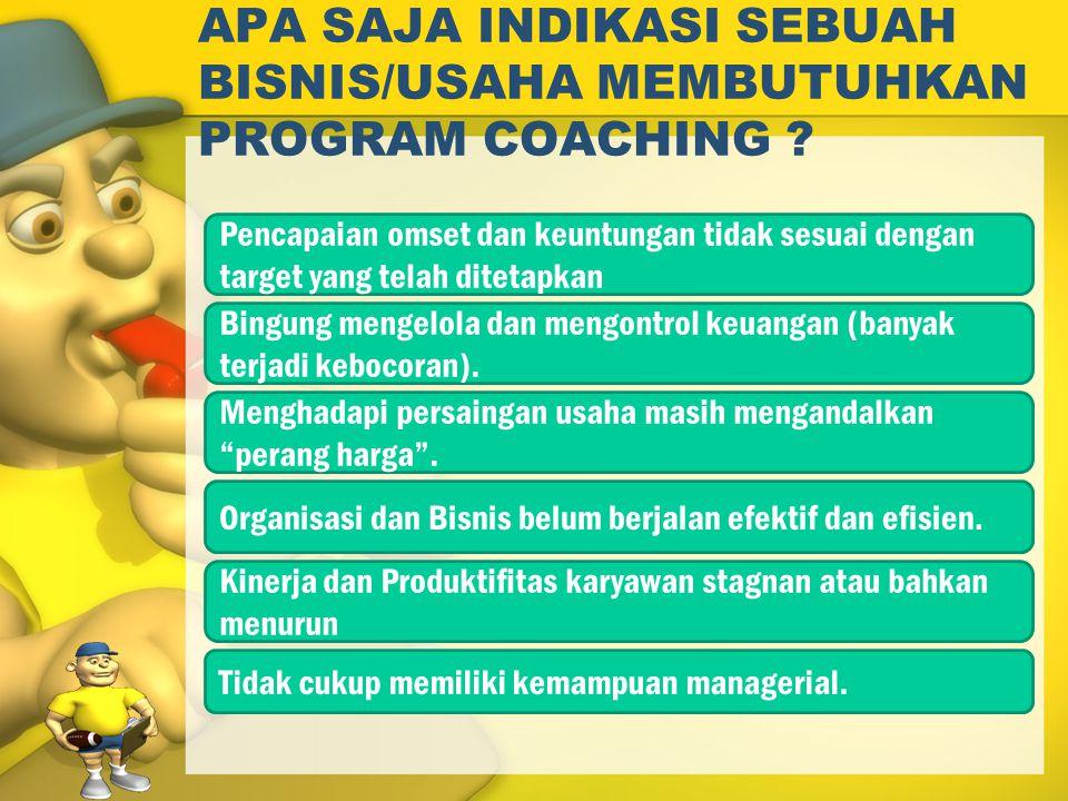Langkah Coaching Gambarkan masalah kinerja secara profesional Diskusikan penyebab masalah Kenali dan catat solusi yang mungkin Kembangkan rencana tindakan secara spesifik Atur sesi lanjutan