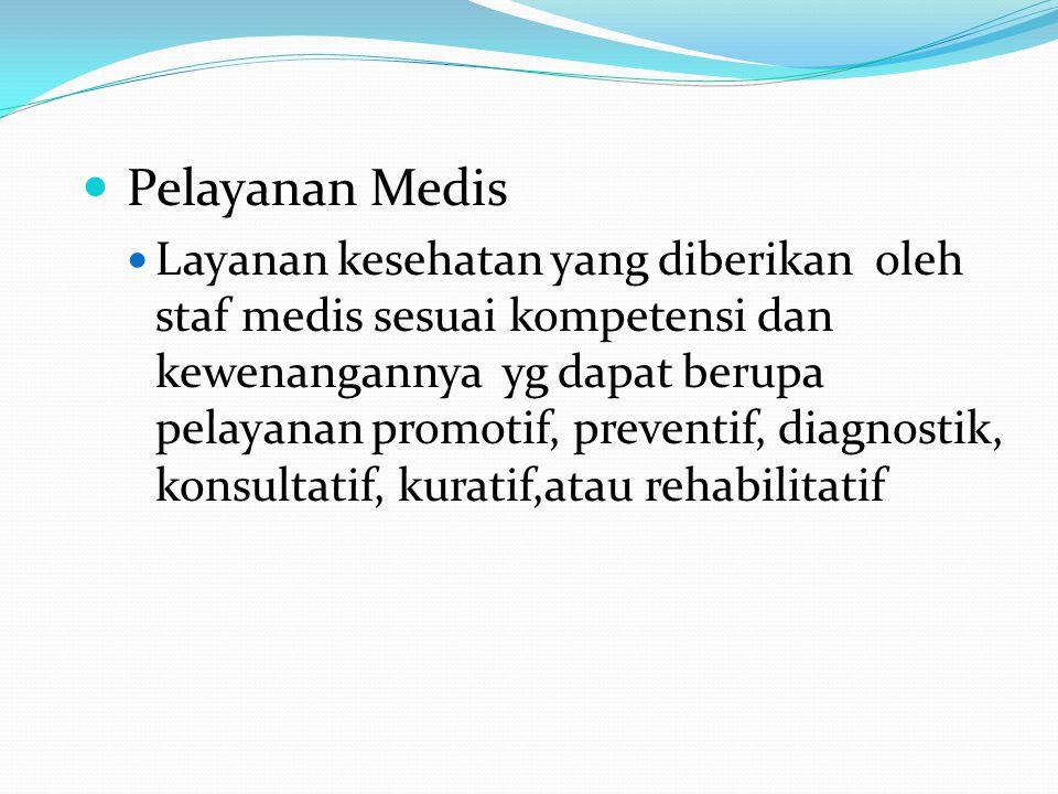 PERUBAHAN PELAYANAN MEDIS 1.Kajian medis pasien 2.