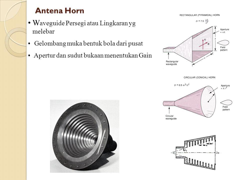 Dipole Pendek Panjang lebih pendek drpd λ Arus konstan di sepanjang antena Daya dekat dipole kebanyakan bersifat reaktif Jika r naik, E r menghilang, E dan H perlahan menjadi se fasa