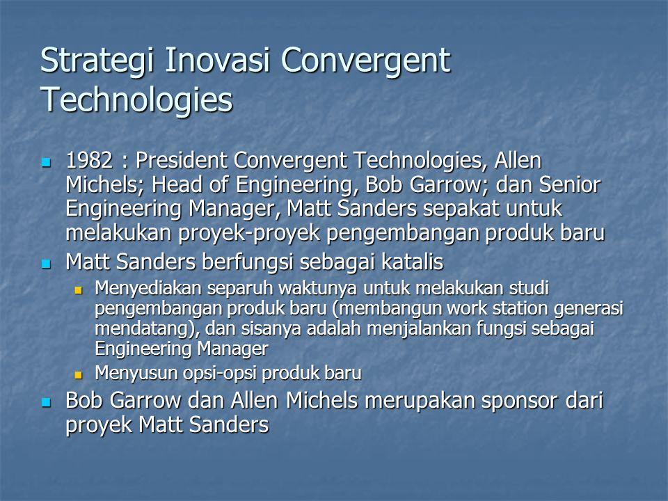 Strategi Inovasi Convergent Technologies 1982 : President Convergent Technologies, Allen Michels; Head of Engineering, Bob Garrow; dan Senior Engineer