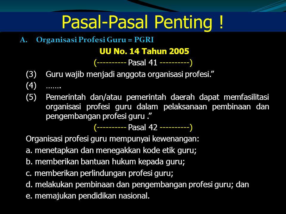 Pasal 10 Tugas dan Wewenang Sesuai dengan AD PGRI BAB XVII pasal 30 ayat 2, dan ART PGRI BAB XXVI pasal 92, maka tugas dan fungsi DKGI adalah : (1)memberikan saran, pendapat, dan pertimbangan tentang pelaksanaan, penegakan, pelanggaran disiplin organisasi dan Kode Etik Guru Indonesia Indonesia kepada Badan Pimpinan organisasi yang membentuknya tentang: a.pelaksanaan bimbingan, pengawasan, penilaian dalam pelaksanaan disiplin organisasi serta Kode Etik Guru Indonesia; b.pelaksanaan, penegakan, dan pelanggaran disiplin organisasi yang terjadi di wilayah kewenangannya; c.pelanggaran Kode Etik Guru Indonesia yang dilakukan baik oleh pengurus maupun oleh anggota serta saran dan pendapat tentang tindakan yang selayaknya dijatuhkan terhadap pelanggaran kode etik tersebut; d.pelaksanaan dan cara penegakan disiplin organisasi dan Kode Etik Guru Indonesia; dan, e.pembinaan hubungan dengan mitra organisasi di bidang penegakan serta pelanggaran disiplin organisasi serta Kode Etik Guru; (2)pelaksanaan tugas bimbingan, pembinaan, penegakan disipin, hubungan dan pelaksanaan Kode Etik Guru Indonesia sebagaiamana ayat-ayat di atas dilakukan bersama pengurus PGRI di segenap perangkat serta jajaran di semua tingkatan; (3)pelaksanaan tugas penilaian dan pengawasan pelaksanaan kode etik profesi sebagaimana ayat- ayat di atas dilakukan melalui masing-masing DKGI di semua tingkatan organisasi.