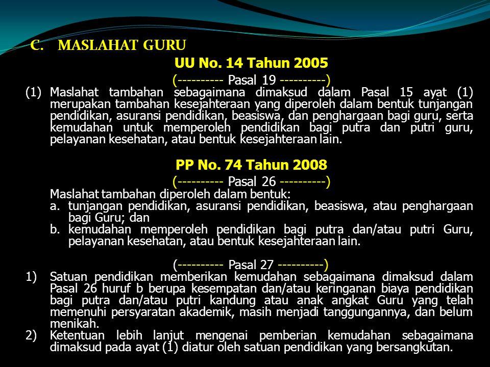 C.MASLAHAT GURU UU No.