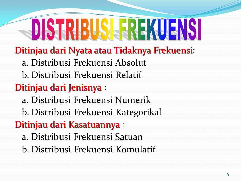Md = Bb + i/fm (1/2 n - Fkb) No Interval Kelas Frekuensi Absolut Frekuensi Relatif Frek.