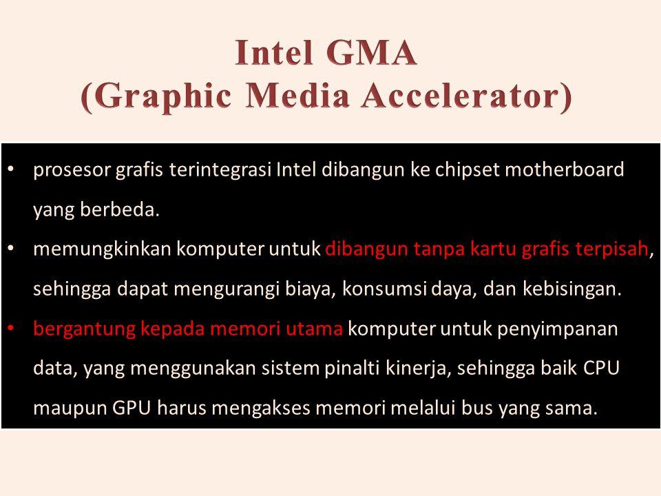 prosesor grafis terintegrasi Intel dibangun ke chipset motherboard yang berbeda.