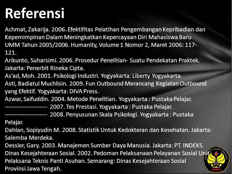 Referensi Achmat, Zakarija. 2006.