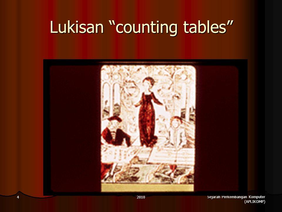 2010 Sejarah Perkembangan Komputer (APLIKOMP) 4 Lukisan counting tables