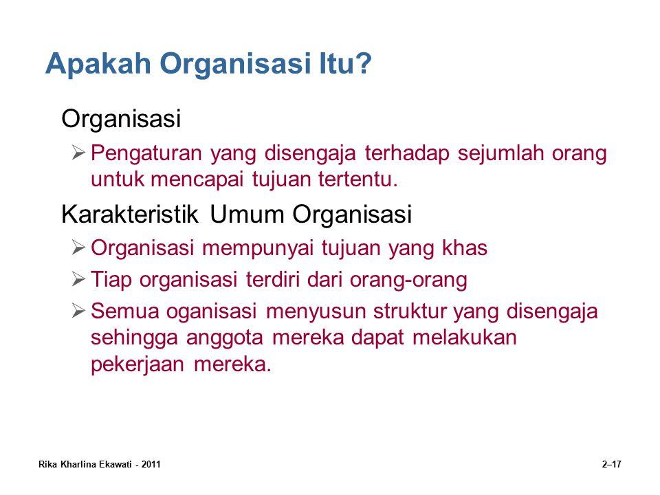 Rika Kharlina Ekawati - 20112–17 Apakah Organisasi Itu.