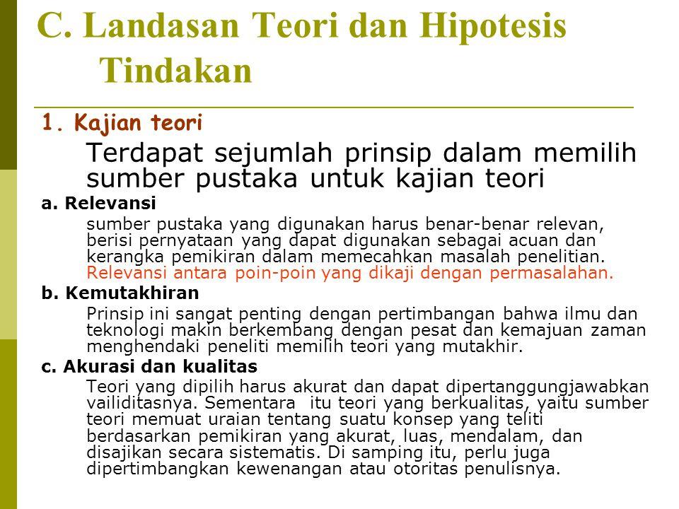 C.Landasan Teori dan Hipotesis Tindakan 1.