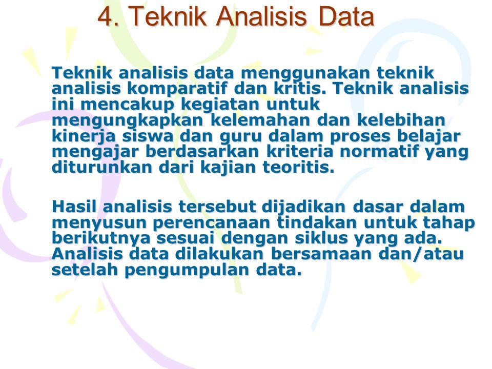4. Teknik Analisis Data Teknik analisis data menggunakan teknik analisis komparatif dan kritis. Teknik analisis ini mencakup kegiatan untuk mengungkap