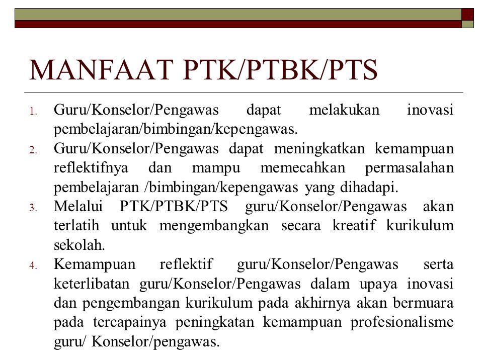 MANFAAT PTK/PTBK/PTS 1.