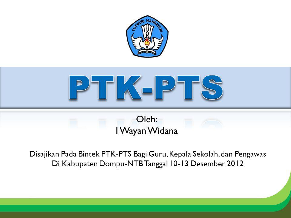 Disajikan Pada Bintek PTK-PTS Bagi Guru, Kepala Sekolah, dan Pengawas Di Kabupaten Dompu-NTB Tanggal 10-13 Desember 2012 Oleh: I Wayan Widana