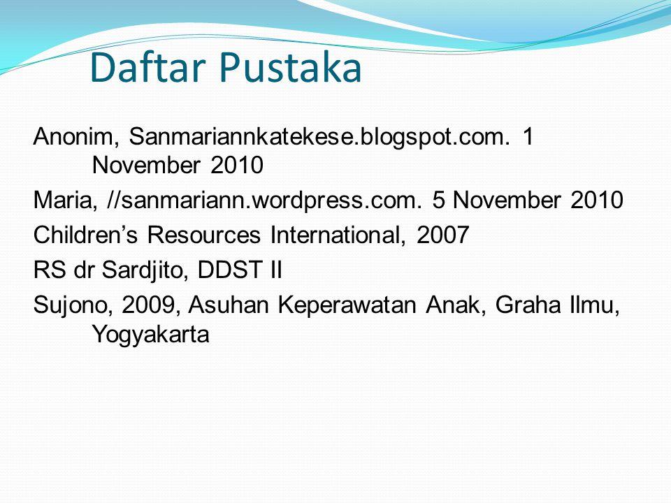 Daftar Pustaka Anonim, Sanmariannkatekese.blogspot.com.