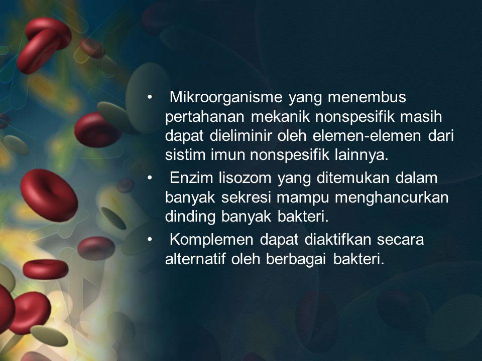 M Cytokines M M Sistem Limpatik dan darah Jaringan Cytokines MHC II Th B Kuman Intraseluler/Virus Tc/Ts Cytokines ADCC NK Tc NK MHC I Kuman Extra seluler