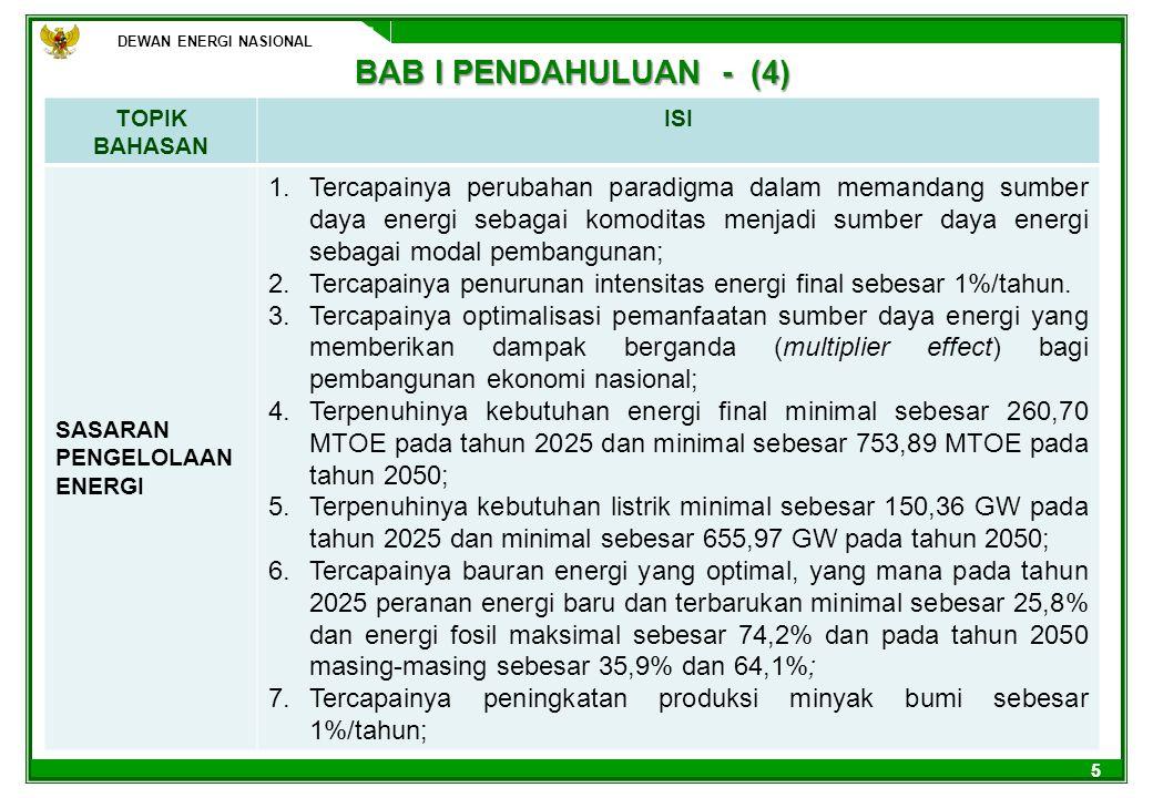 DEWAN ENERGI NASIONAL 16 ARAH KEBIJAKAN ENERGI BARU DAN TERBARUKAN (1) 1.MEWUJUDKAN PASAR ENERGI BARU DAN TERBARUKAN YANG DIATUR OLEH PEMERINTAH; 2.MENGATUR DAN MEMBERLAKUKAN HARGA KHUSUS UNTUK ENERGI BARU DAN TERBARUKAN DAN MEWAJIBKAN KEPADA PERUSAHAAN PENYEDIA LISTRIK UNTUK MEMBELI LISTRIK DARI ENERGI BARU DAN TERBARUKAN SESUAI DENGAN KUOTA YANG DITENTUKAN SERTA MENSUBSIDI SELISIH HARGA ENERGI BARU DAN TERBARUKAN TERHADAP ENERGI KONVENSIONAL; 3.MENGEMBANGKAN ENERGI BARU DAN TERBARUKAN YANG DIFOKUSKAN PADA PANAS BUMI (GEOTHERMAL), BIOMASSA, TENAGA SURYA (SOLAR) DAN BAHAN BAKAR NABATI; 4.MENGALOKASIKAN DANA DENGAN SKEMA KHUSUS (SMART FUNDING) UNTUK PENELITIAN DAN PENGEMBANGAN ENERGI BARU DAN TERBARUKAN GUNA MENURUNKAN BIAYA PRODUKSI, KHUSUSNYA UNTUK SKALA KECIL; 5.MENERAPKAN PENGATURAN DAN PENGALOKASIAN DANA DARI PROGRAM CLEAN DEVELOPMENT MECHANISM (CDM) AGAR INSENTIF KARBON KREDIT DAPAT LEBIH MEMBERI MANFAAT PADA PUBLIK; 6.MENINGKATAN PENGEMBANGAN INDUSTRI PERALATAN PRODUKSI ENERGI TERBARUKAN DALAM NEGERI (PERALATAN PENYULINGAN BBN, SOLAR CELL DAN PANEL HARUS MENGGUNAKAN PRODUKSI DALAM NEGERI).