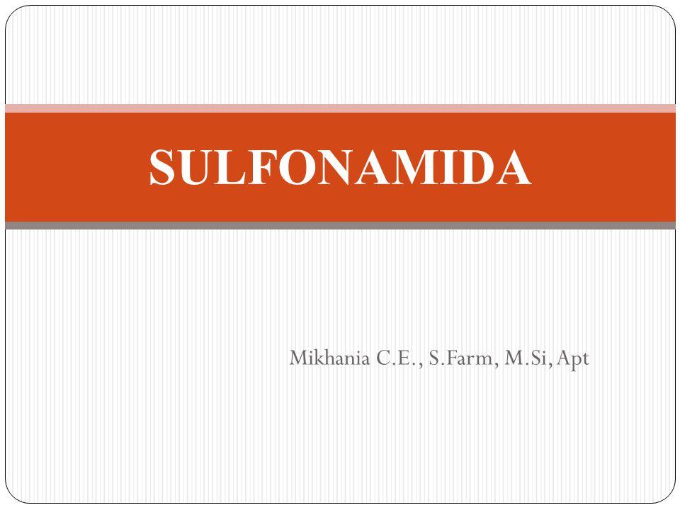 PENDAHULUAN Sulfonamida adalah golongan antimikroorganisme yg memiliki kemampuan bakteriostatis yg luas terhadap bakteri gram positif dan negatif Spektrum kerja sulfonamida luas tetapi kurang kuat dibanding antibiotik Daya kerja umumnya bakteriostatik, tapi pada kadar tinggi dalam urin daya kerjanya bakterisida.