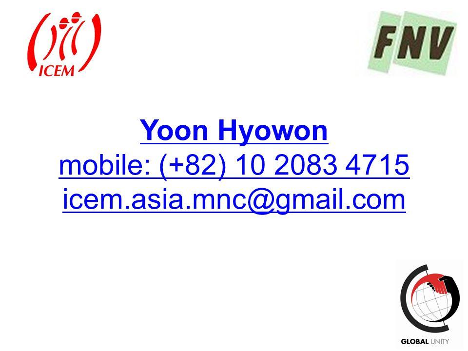 70 Yoon Hyowon mobile: (+82) 10 2083 4715 icem.asia.mnc@gmail.com
