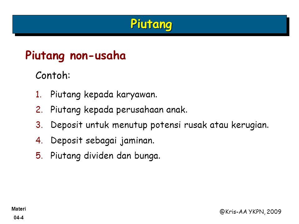 Materi 04-55 @Kris-AA YKPN, 2009 Didukung oleh janji tertulis formal.
