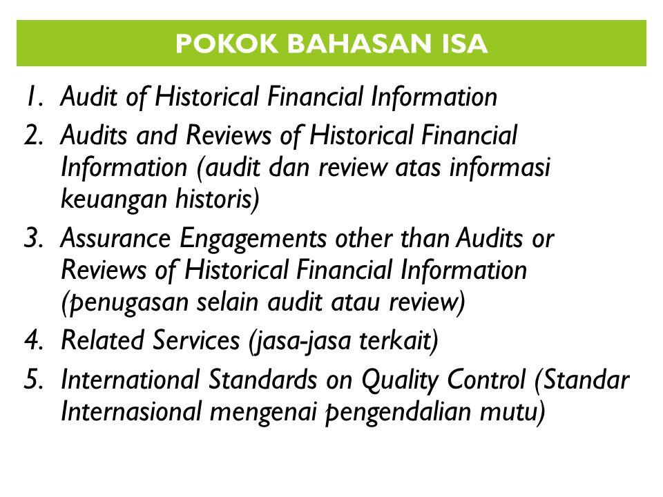 RISK RESPONSE / Menanggapi Resiko ISA 330.3 Tujuan auditor adalah memperoleh bukti audit yang cukup dan tepat tentang resiko (salah saji material) yang dinilai, dengan merancang dan mengimplementasi tanggapan yagn tepat terhadap resiko tersebut AUDITOR PERLU 1.Menilai resiko bawaan dan resiko pengendalian pada tingkat laporan keuangan dan tingkat asersi (untu setiap jenis transaksi, saldo akun dan pengungkapan) 2.Mengembangkan prosedur audit responsif, yakni prosedur audit yg menanggapi resiko yang dinilai RENCANA AUDIT 1.Berisi tanggapan menyeluruh atas resiko yang diidentifikasi pada tingkat laporena keuangan 2.Menangani area laporan keuangan yang material 3.Berisi sifat luasnya dan penjadwalan prosedur audit spesifik untuk menanggapi resiko salah saji material pada tingkat asersi