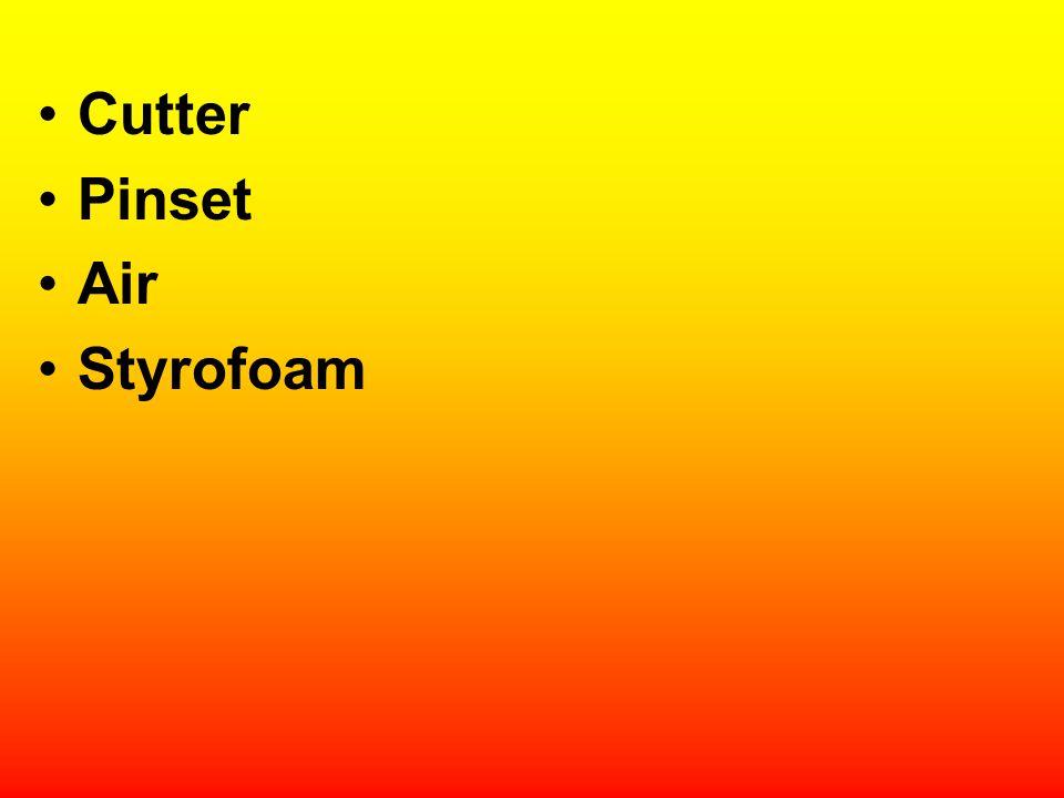 Cutter Pinset Air Styrofoam