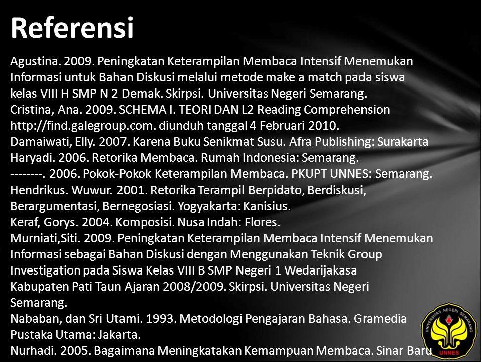 Referensi Agustina. 2009.