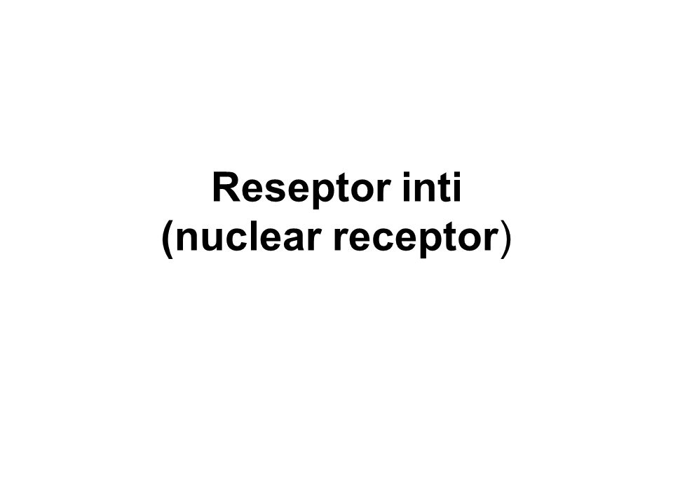 Reseptor inti (nuclear receptor)