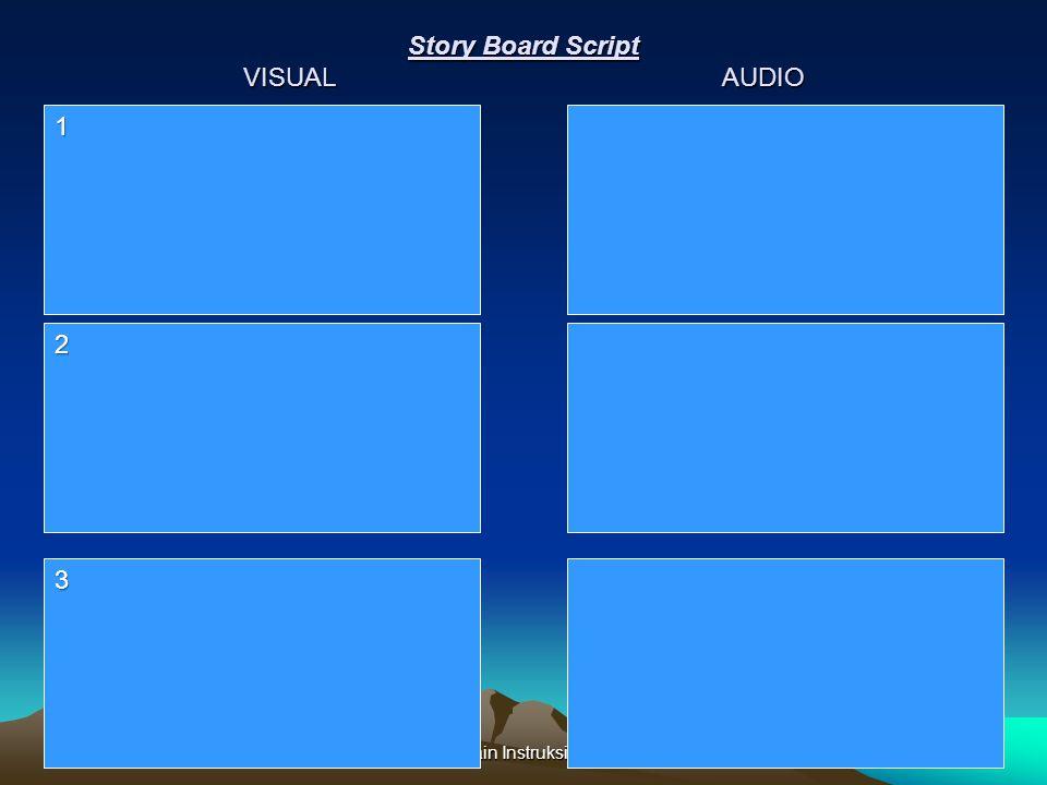 Story Board Script VISUAL AUDIO Disain Instruksional 1 2 3