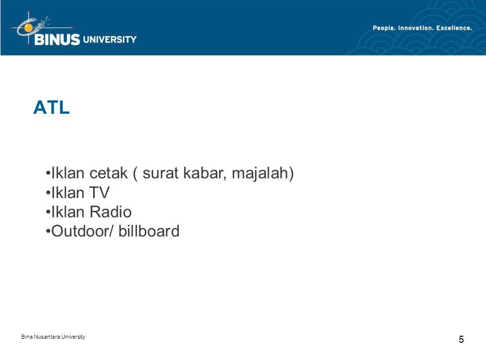 Bina Nusantara University 16 BrandActivation