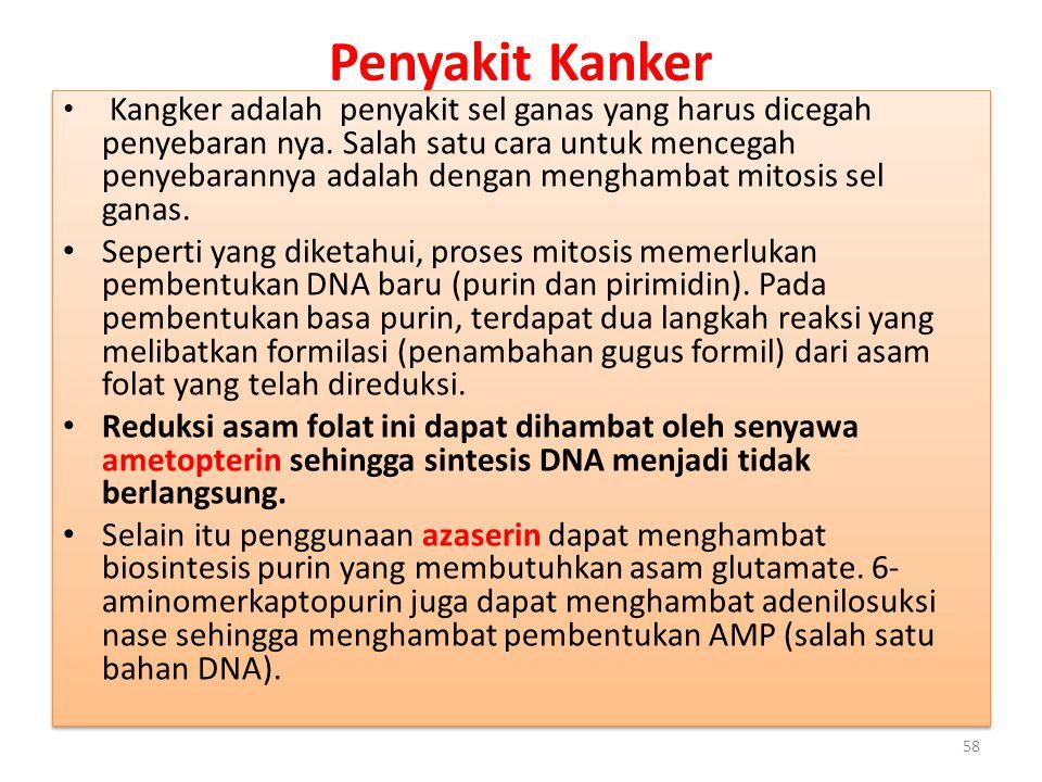 Penyakit Kanker Kangker adalah penyakit sel ganas yang harus dicegah penyebaran nya.