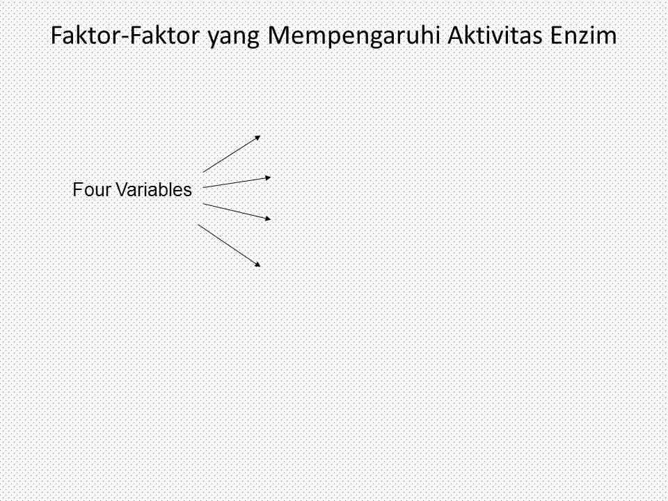 Four Variables Faktor-Faktor yang Mempengaruhi Aktivitas Enzim