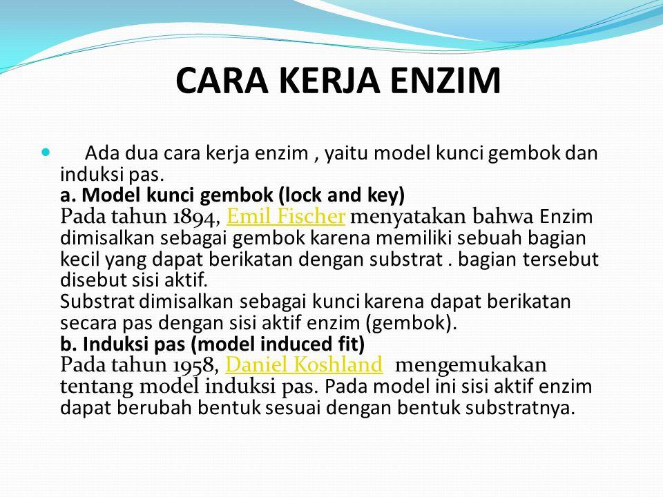 a. Model kunci gembok (Lock and key)