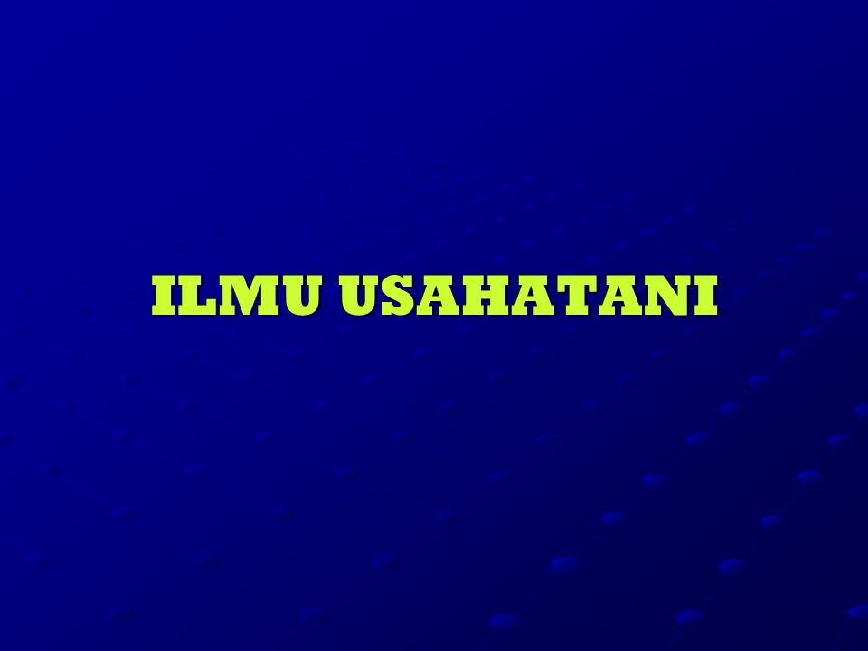 ILMU USAHATANI