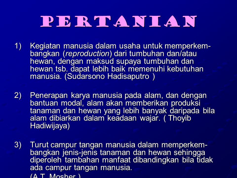 Kondisi Petani di Indonesia Petani Kecil dengan ciri-ciri : 1)Pendapatan rendah, kurang dari setara 240 kg beras/ kapita/ tahun 2)Memiliki lahan sempit Jawa Luar Jawa Jawa Luar Jawa -------------------------------------- -------------------------------------- Sawah < 0,25 ha < 0,50 ha Sawah < 0,25 ha < 0,50 ha Sawah +Tegalan 0,50 ha 1,00 ha Sawah +Tegalan 0,50 ha 1,00 ha 3)Kekurangan modal dan memiliki tabungan terbatas 4)Pengetahuannya terbatas