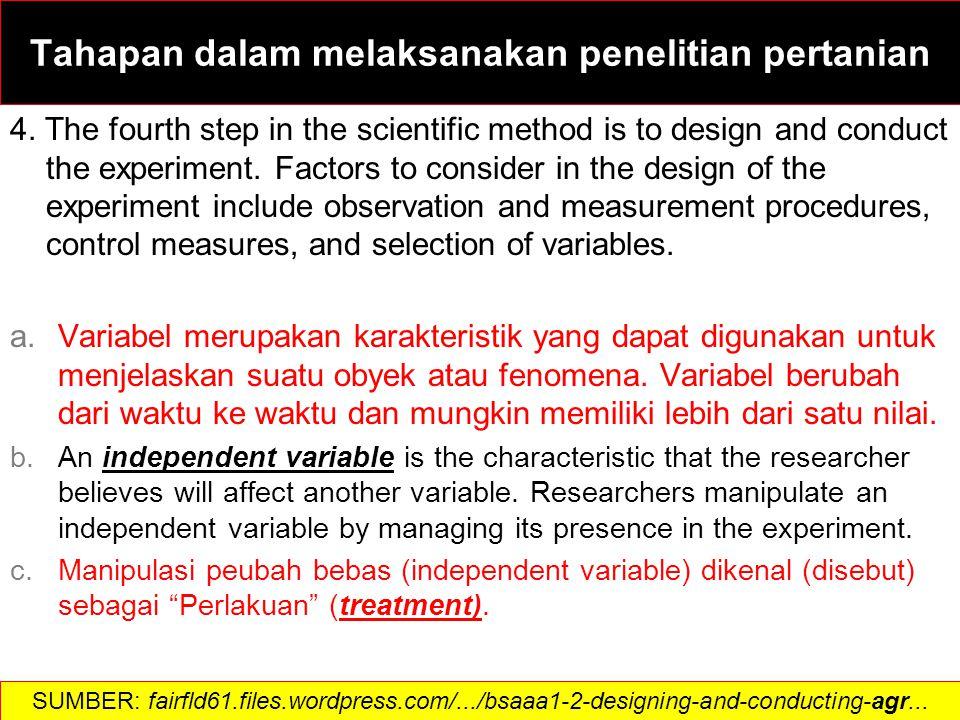 Variabel terikat (Variabel tidak-bebas, Variabel tergantung) adalah karakteristik yang akan diamati.