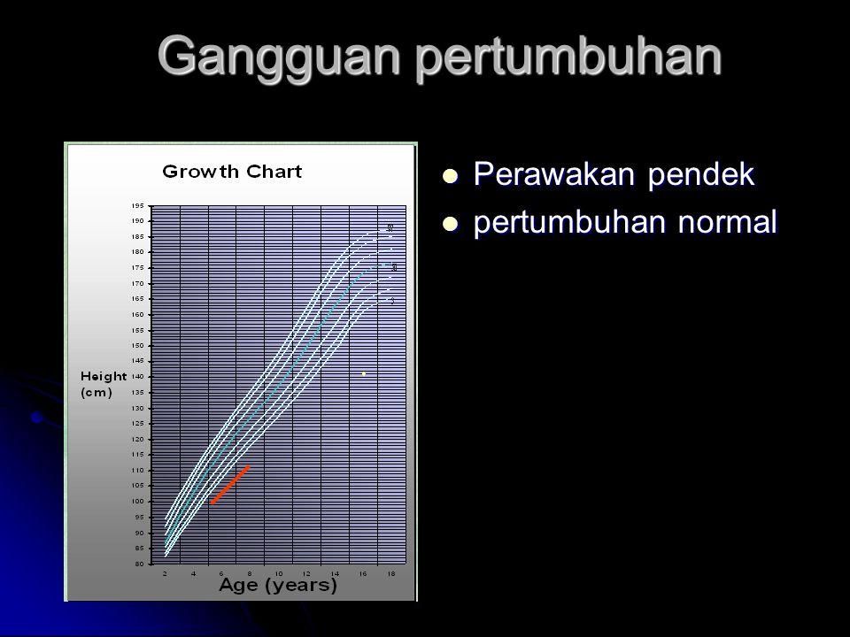 Gangguan pertumbuhan Perawakan normal Perawakan normal pertumbuhan terganggu pertumbuhan terganggu