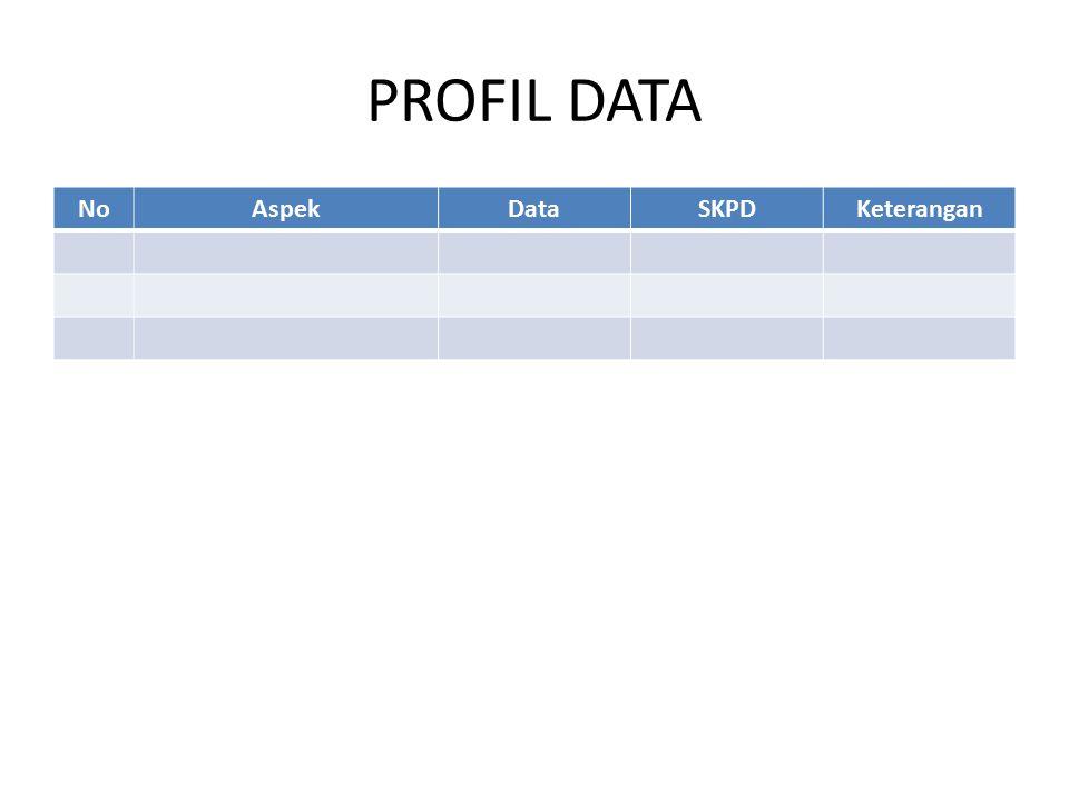 PROFIL DATA NoAspekDataSKPDKeterangan