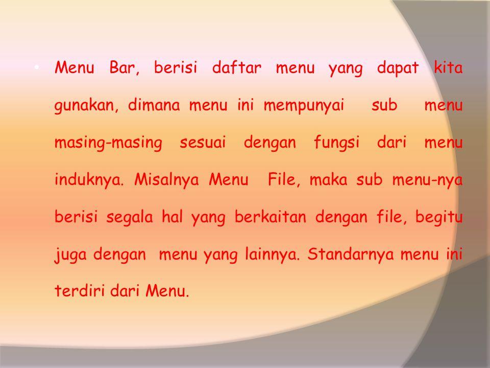Mengenal Elemen Jendela MS-Word Setelah Word 2000 kita aktifkan, maka akan tampil layar kosong dengan nama Document 1, seperti Gambar 2.2. Gambar 2.2.