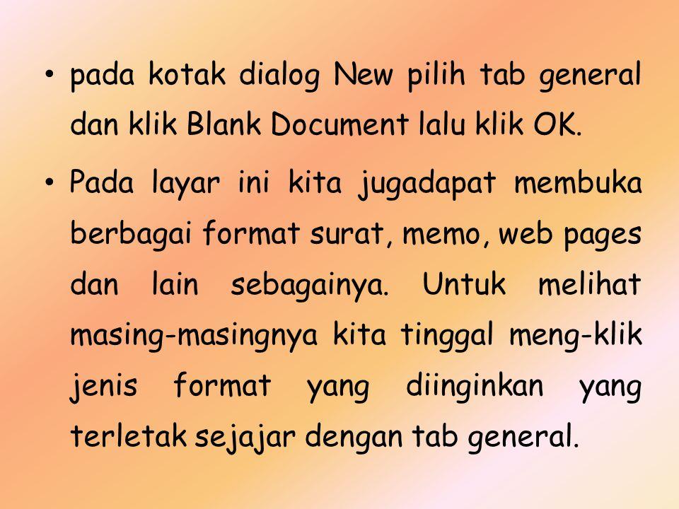 Gambar 2.7. Membuat Dokumen Baru