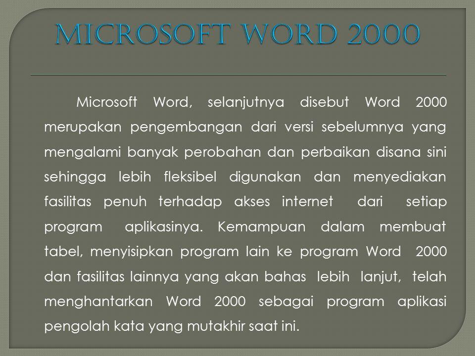 MICROSOFT WORD  Pendahuluan Microsoft Word (MS Word) merupakan program pengolah kata yang banyak dipakai saat ini dibandingkan dengan program pengola