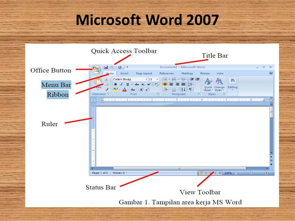I. Mengenal Microsoft Word Microsoft Word (MS Word) merupakan program untuk mengolah kata. Program ini bisa digunakan untuk menulis dokumen misalnya k