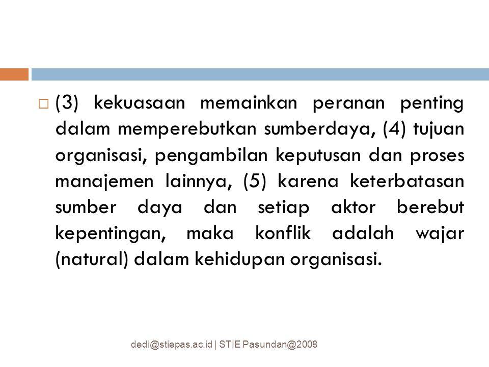  Kekuasaan dan politik dalam organisasi.