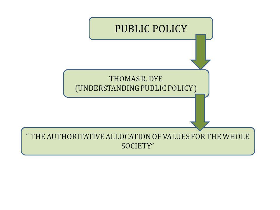 PUBLIC POLICY THOMAS R.