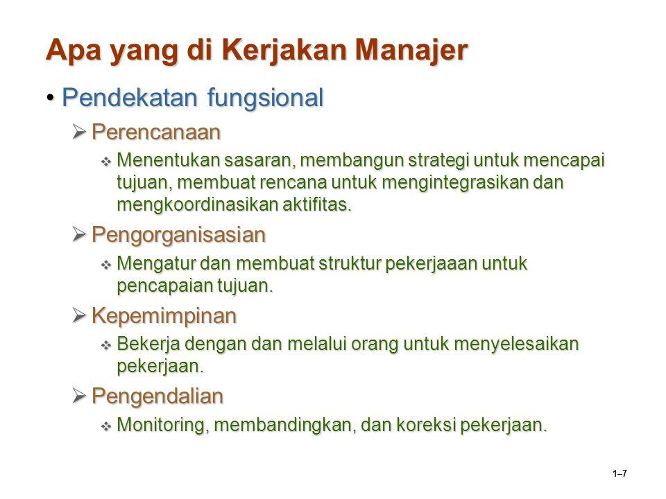 1–18 Perkembangan Pekerjaan Manajer.