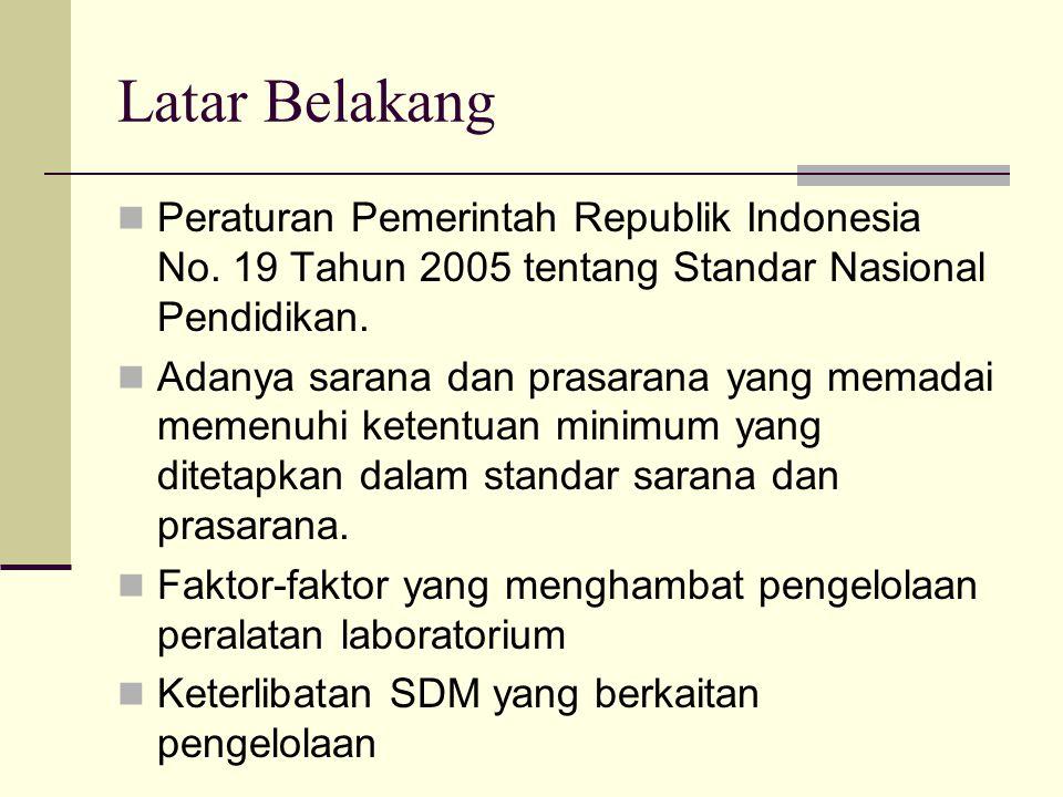 Latar Belakang Peraturan Pemerintah Republik Indonesia No.