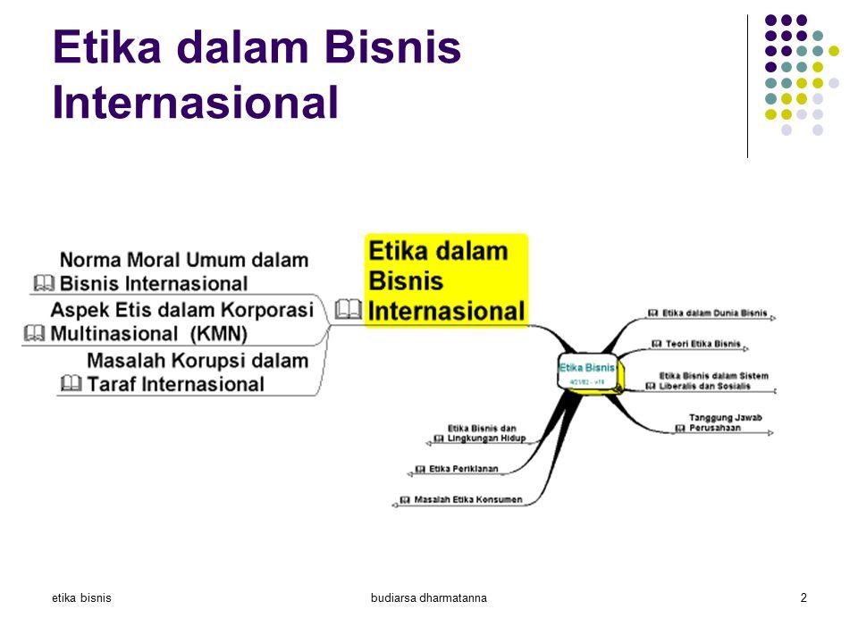 etika bisnisbudiarsa dharmatanna2 Etika dalam Bisnis Internasional Definisi Penyebab perbedaan etika Masalah2 etika Penentu perilaku etis Pendekatan f